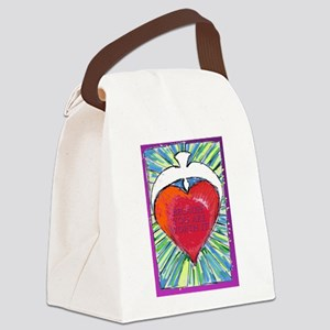 solid heartWORTHit Canvas Lunch Bag
