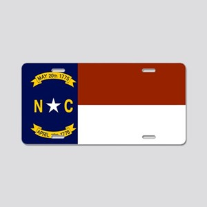 North Carolina United States Flag Aluminum License