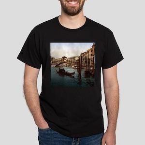 Vintage Rialto Bridge Dark T-Shirt