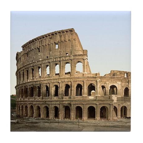 Vintage Colosseum Tile Coaster