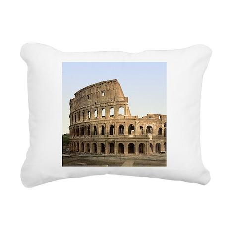 Vintage Colosseum Rectangular Canvas Pillow