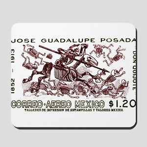1963 Mexico Don Quijote Skeletons Postage Stamp Mo