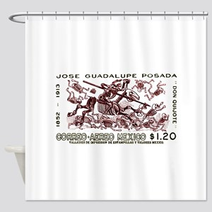 1963 Mexico Don Quijote Skeletons Postage Stamp Sh