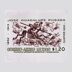 1963 Mexico Don Quijote Skeletons Postage Stamp S