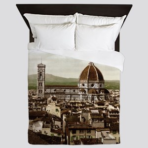 Vintage Florence Cathedral Queen Duvet