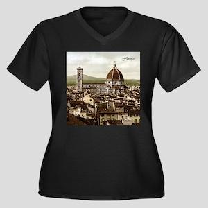 Vintage Florence Cathedral Women's Plus Size V-Nec