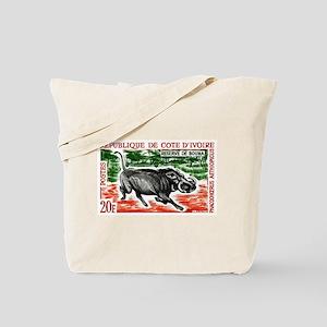 1963 Ivory Coast Desert Warthog Stamp Tote Bag