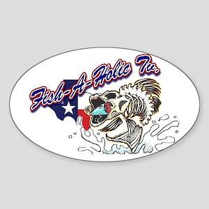 Fish-A-Holic Tv Sticker (Oval)