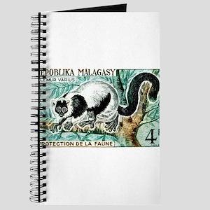 1961 Madagascar Ruffled Lemur Stamp Journal