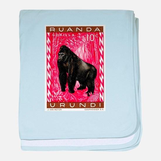1959 Rwanda Mountiain Gorilla Stamp baby blanket
