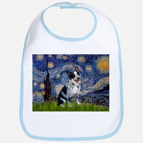 Starry Night Aussie Cattle Dog Bib