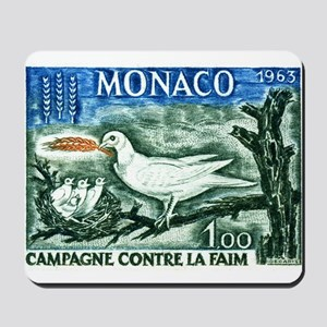1963 Monaco Campaign Against Hunger Stamp Mousepad