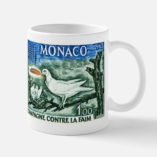 1963 Monaco Campaign Against Hunger Stamp Mug