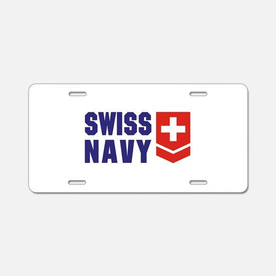 SWISS NAVY Aluminum License Plate