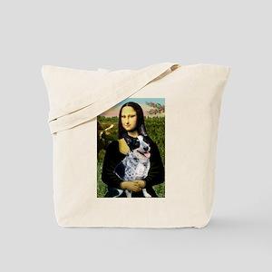 Mona Lisa/Cattle Dog Tote Bag