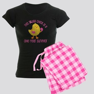 Breast Cancer 1 Year Survivor Chick Women's Dark P