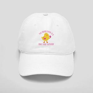 Breast Cancer 1 Year Survivor Chick Cap