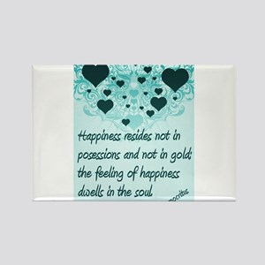 Happiness quote poster Rectangle Magnet