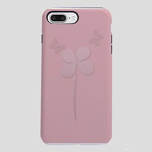 My Cute Pink Butterflies Floral iPhone 7 Plus Toug