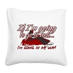 Going In My Way Square Canvas Pillow