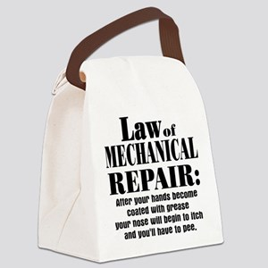 Law of Mechanical Repair: Canvas Lunch Bag