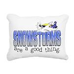 Snowstorms - Good Thing Rectangular Canvas Pillow