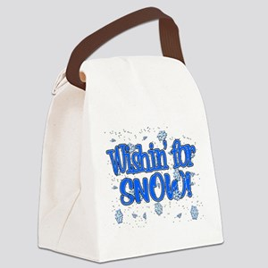 Wishin' For Snow Canvas Lunch Bag