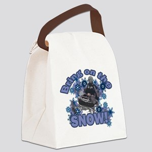 Bring On The Snow Canvas Lunch Bag