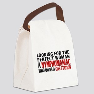 Perfect Woman Canvas Lunch Bag