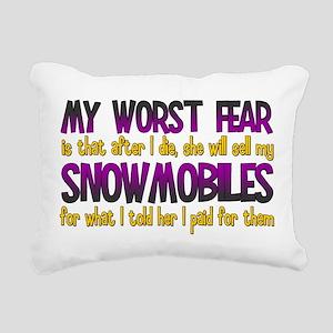 Cheap Snowmobiles Rectangular Canvas Pillow