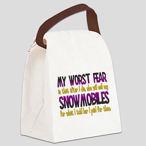 Cheap Snowmobiles Canvas Lunch Bag
