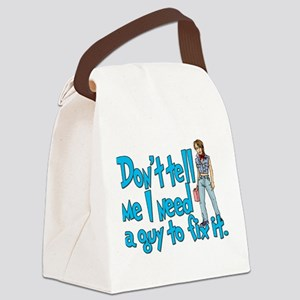 a guy to fix it Canvas Lunch Bag