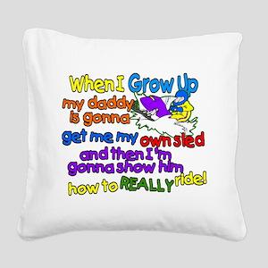 Teach Daddy Square Canvas Pillow