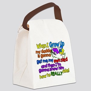Teach Daddy Canvas Lunch Bag