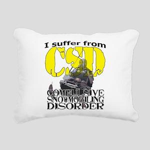 CSD Compulsive Snowmobil Rectangular Canvas Pillow