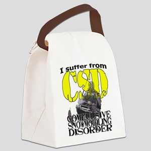 CSD Compulsive Snowmobile Disorde Canvas Lunch Bag