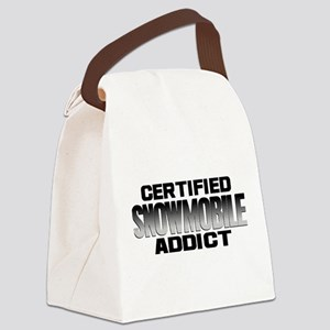 Certified Snowmobile Addict Canvas Lunch Bag