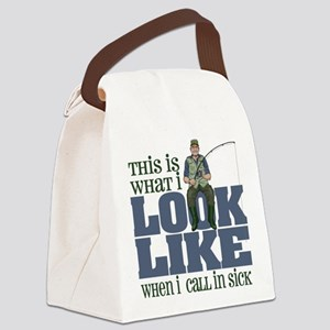 Call in Sick - Fishing Canvas Lunch Bag