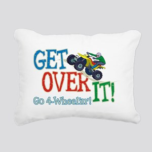Get Over It - 4 Wheeling Rectangular Canvas Pillow