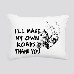 Make My Own Roads Rectangular Canvas Pillow
