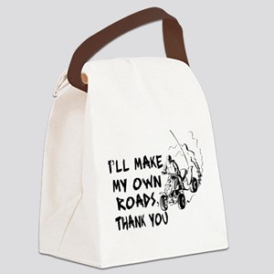 Make My Own Roads Canvas Lunch Bag