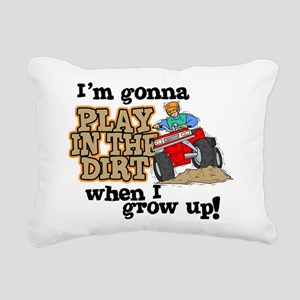 Play In The Dirt Rectangular Canvas Pillow