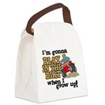 Play In The Dirt Canvas Lunch Bag