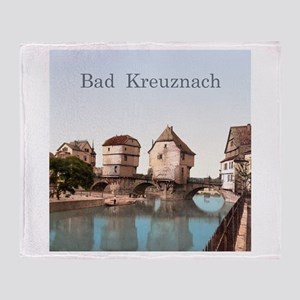 Bad Kreuznach Bridge Houses Throw Blanket