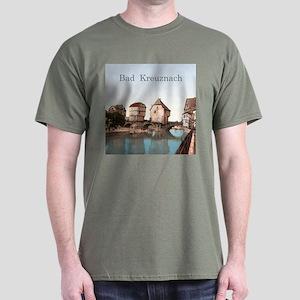 Bad Kreuznach Bridge Houses Dark T-Shirt