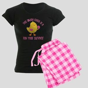 Breast Cancer 10 Year Survivor Chick Women's Dark