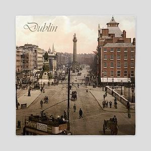 Vintage Dublin O'Connell Street Queen Duvet