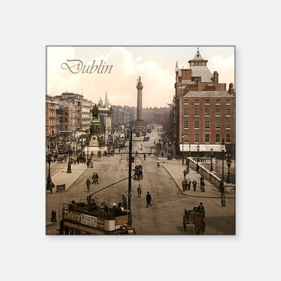 """Vintage Dublin O'Connell Street Square Sticker 3"""""""