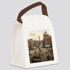 Vintage Dublin O'Connell Street Canvas Lunch Bag