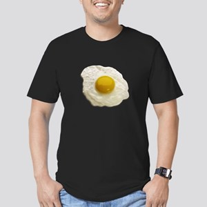 Egg on My Men's Fitted T-Shirt (dark)
